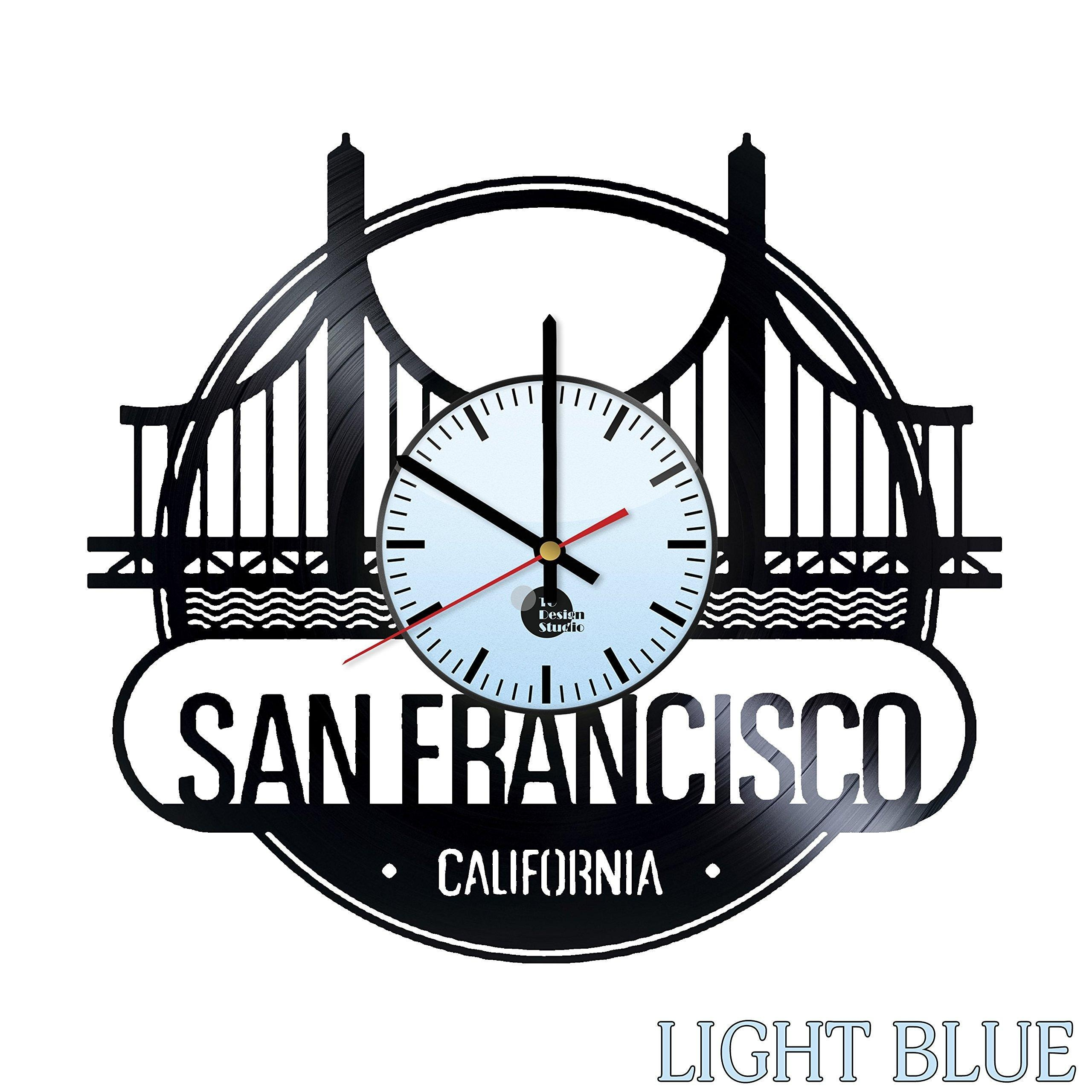 online store san francisco state vinyl record wall clock