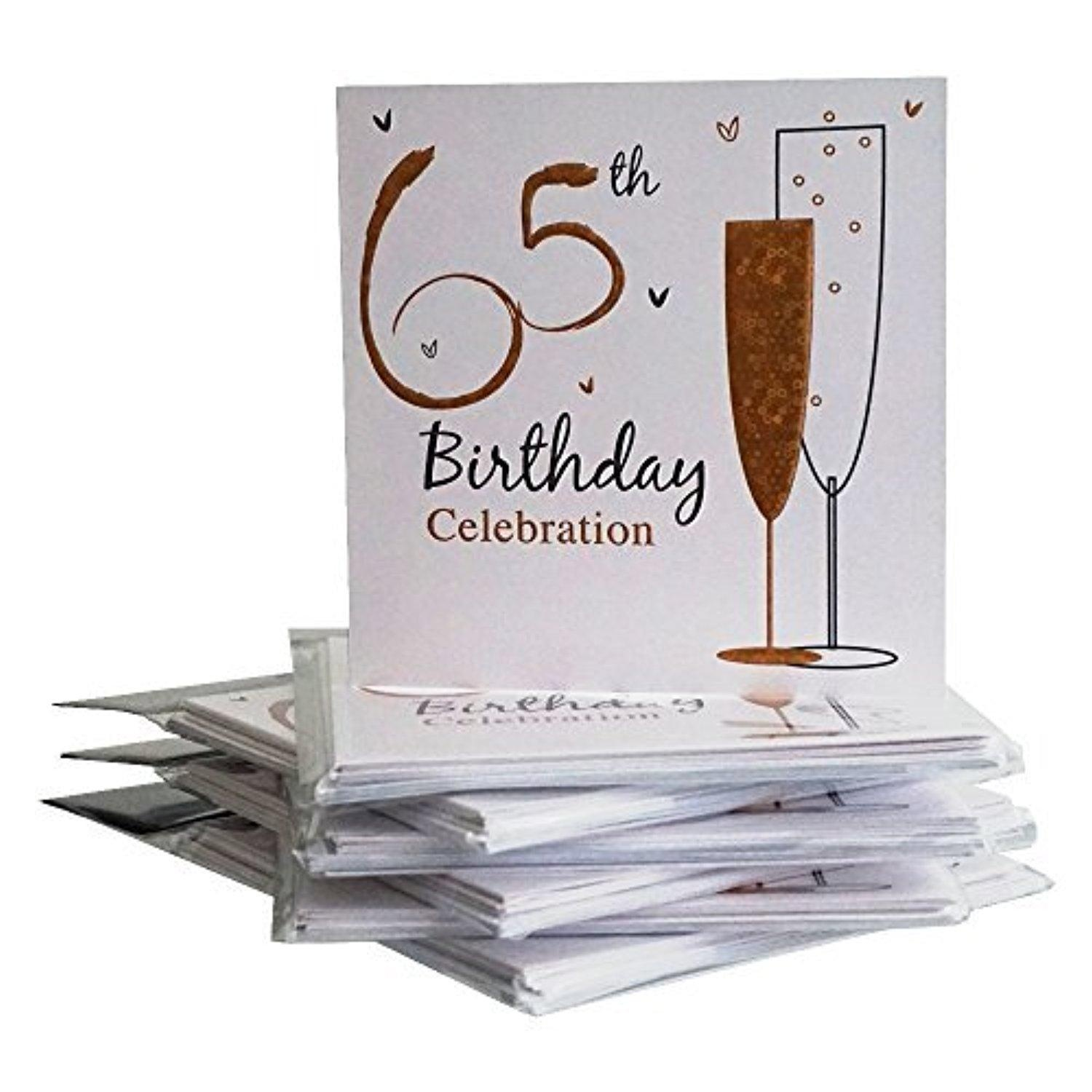 Online Store 65th Birthday Party Invitations 36 Multipack Cards With Envelopes By Simon Elvin