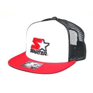 Starter Flow Meshback Trucker Cap - White / Black / Red