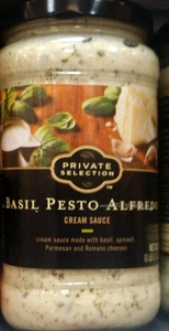 Private Selection Basil Pesto Alfredo Sauce 16.9 Oz (Pack of 2)