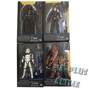 Star Wars Black 6 Inch Series 5 Set of 4 Action Figures [Jedi Luke, Darth Vader, Sandtrooper & Chewbacca] by Star Wars 2014 Black Series