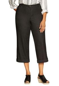 Women's Plus Size Denim Culottes Black Denim,24 W