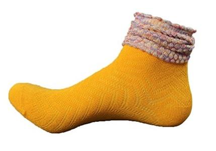 Gxia Womens Cotton Turn Cuff Casual Socks ( 6 Pairs )