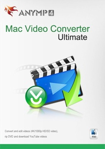 AnyMP4 Video Converter for Mac Ultimate Lifetime License - Convert 4K/1080p HD/SD video to any popular video/audio format like MP4, AVI, MOV, M4V, MPEG, FLV, WMV, MP3, WMA and more, edit video, rip DVD and download online videos from YouTube, Facebook, Vimeo, Yahoo, etc. on Mac [Download]