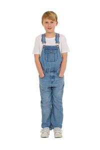 USKEES TOM Kids Slim Fit Overalls - Palewash Childrens Denim Dungarees