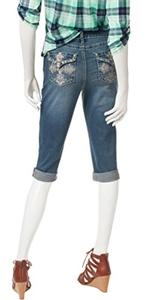 Earl Jean Womens Embellished Bermuda Jean Shorts, Medium