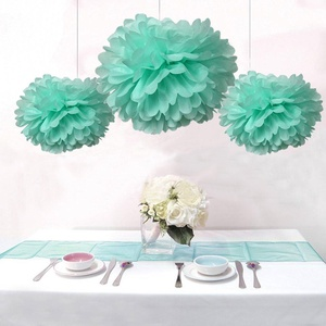 Joinwin 8pcs Mixed Mint greenTissue Paper Pom Poms Flower Ball Hanging Pom Wedding Party Outdoor Decoration Wedding Nursery Decorations Bridal Shower Party Room Decor