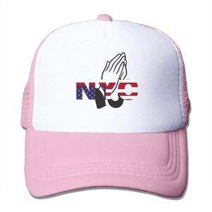 Pray For Nyc Adult Adjustable Trucker Mesh Hat Baseball Cap Pink
