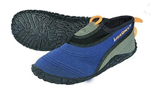 Aqua Sphere Boy's Beachwalker Water Shoes - Blue, Size 34/Size 35 by Aqua Sphere
