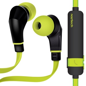 Naztech NX80 Wireless Earphones, HD Stereo Sound with Enhanced Bass, Bluetooth 4.1 Technology, Built-in Mic & Remote, 6hr Battery for iPhone/iPad/iPod/Android Smartphones & Tablets (LIME/BLACK)