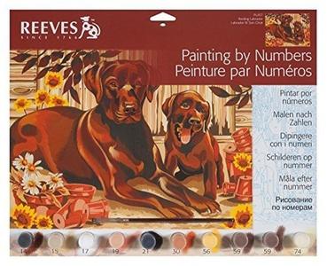 Reeves Painting by Numbers - Resting Labrador by Reeves