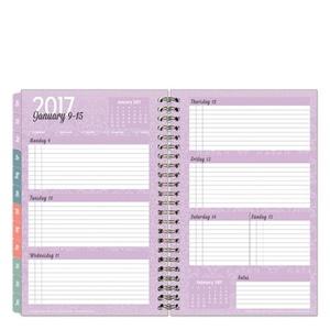 Classic Serenity Weekly Wire-bound Planner - Jan 2017 - Dec 2017