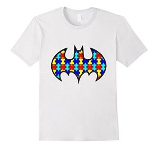 Men's Autism Awareness Superhero T Shirt 3XL White