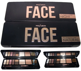 Profusion Cosmetics 8 Color Face Eye Shadow Palette Natural Or Night (COSFACE) (Natural)