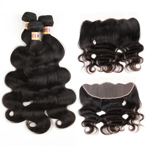 Mesariel 134 Lace Frontal Closure Brazilian Human Hair Body Wave With Frontal Closure (22 +16)