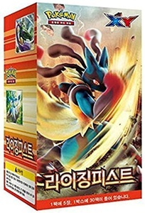 Pokemon Card XY 30 Packs in 1 Box Rising Fist Korea Version / 30 Booster packs by pokemon card