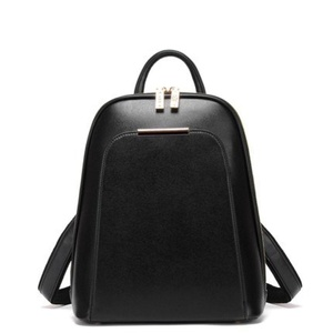 Simple Women's Lady's Casual Weave PU Leather Backpack School Travel Backpack (A)