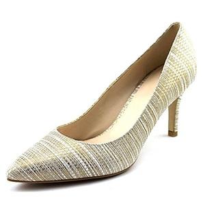 Cole Haan Juliana Women Pointed Toe Leather Gold Heels