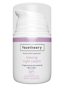Night Face Cream M10 with Hyaluronic Acid, Ferulic Acid, Vitamin C, Vitamin E and Argan Oil. An Anti-Aging Night Cream Treatment that Reduces Fine Lines, Wrinkles and Create a More Even Skin Tone. (50ml Gently Fragranced with Lavender) by facetheory