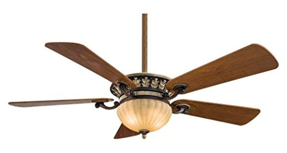Belcaro Walnut 5 Blade 52In. Ceiling Fan - Light, Wall Control And Blades Included