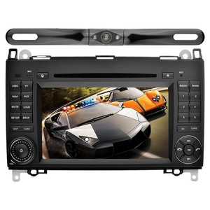 YINUO Android 5.1.1 Lollipop 7 inch 2 Din Quad Core HD Car Stereo 1024600 Capacitive Touch Screen Car Radio Receiver DVD GPS Navigation for Mercedes-Benz, Mic+8GB Map Card+Backup Camera