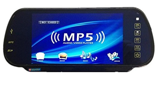 Car Styling 7 inch TFT LCD Screen Car Rear View Monitor Display With Car MP5 Player for Rearview Reverse Backup Camera Car TV Display For Truck With USB SD