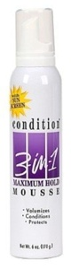 Condition 3-N-1 Mousse 6oz Maximum With Sunscreen (3 Pack) by Condition 3-N-1