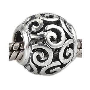 Leobeads Authentic 925 Sterling Silver Openwork Ocean Breeze Charms Beads Fit Pandora Style Bracelet
