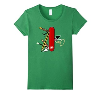 Women's Illustrator Survival Kit T-Shirt Large Grass