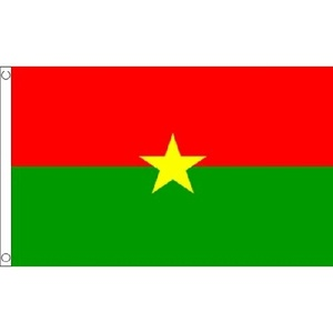 Burkina Faso Flag 5Ft X 3Ft West Africa African Banner With 2 Metal Eyelets New by Burkina Faso