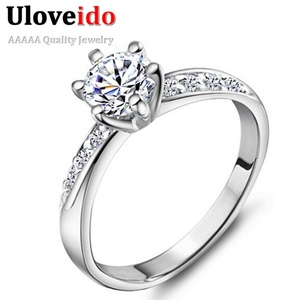 Dudee Jewelry Wedding Crown Crystal Ring for Unique Exclusive Women Cool CZ Zirkon Jewelry Engagement Ring Joyas Vintage J048