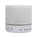 ANRANK BS63570AK Super Bass Mini Portable Bluetooth Wireless Speaker with LED and Build-in Mic Support AUX TF iPhone Samsung Smartphone PC Tablet (White)