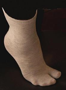 Sandal Socks V Toe Tabi - Grey (Size UK 7-11) by XTRAFITNESS