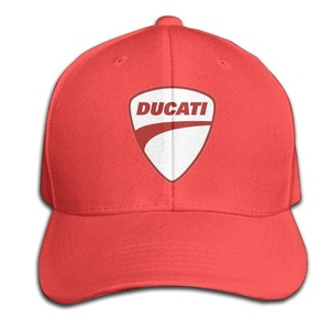 EVALY Fashion Unisex Ducati Red Logo Summer Cap Hat Red