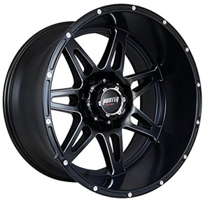 FOUR Brand New Hunter HT80 Matte Black w/ Milled Spokes 22x12 8x165.1 -44mm offset Wheel Rim Set
