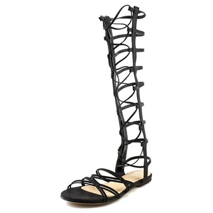 G.C. Shoes High Rise Women US 7.5 Black Gladiator Sandal