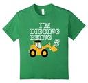 Kids Big Boys' 5 Year Old Bulldozer Birthday Youth T-Shirt 12 Grass
