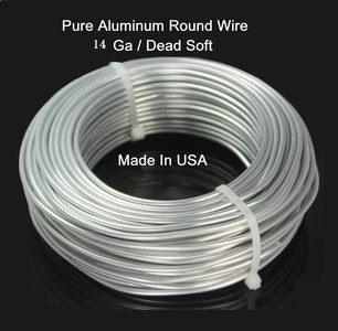 14 Ga / 50 Ft. Aluminum Round Wire (Dead Soft) By Modern Findings