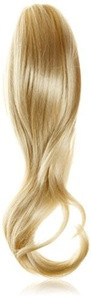 Hair By MissTresses Bleach Blonde Pony Twist Ponytail Hairpiece/ Mid Length Wavy Ponytail Claw Clip by Hair By MissTresses