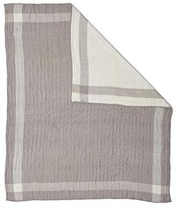 Pehr Designs Side Kick Quilted Muslin Blanket - Pebble