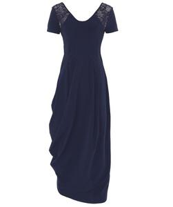 High Women's Lace Shoulder Drape Dress Dark Navy