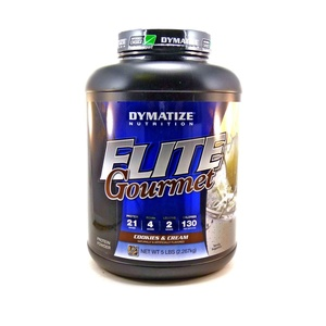 Bundle - 2 Items : 1 Elite Gourmet Cookies & Cream Protein By Dymatize - 5 Pounds and 1 VDC Shaker Cup