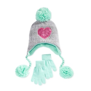 Berkshire Pom-Pom Beanie and Gloves Set (OSFM)