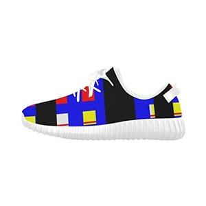 Thelma Lattice Mondrian Women's Lightweight Casual Shoes Running Shoes,White