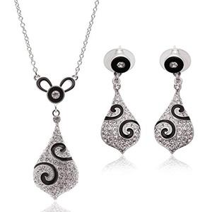 Crystal Jewelry Set Wedding Accessories Wedding jewelry Earrings + necklace
