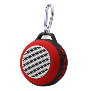 HLS S303 Portable Mini Wireless Bluetooth Travel Speaker with Enhanced Bass Built-in Microphone / FM Radio / Hands-free Calling for iPhone, iPad, Computer and More - Support TF (Micro SD) Card - Red