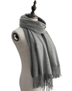J-SUN-7 Womens Solid Color Pure Wool Scarf Lambswool Shawl(Mid-Gray, 2772(inch))