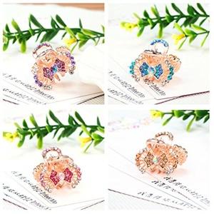 Casualfashion 4Pcs Exquisite Crystal Rhinestone Hair Bangs Mini Hair Claw Clip Hair Pin Accessories for Women Girls