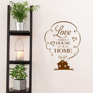 Home Wall Art - Love Makes A House A Home - Quote Wall Decal - Home Wall Decor - Home Quotes - Word Wall Art - Home Sticker