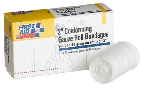 First Aid Only 2 Conforming Gauze Roll Bandage, 2-Count Boxes (Pack of 10) by First Aid Only